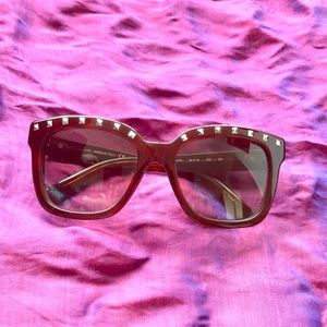 Valentino Sunglasses Brown Studded Rockstud